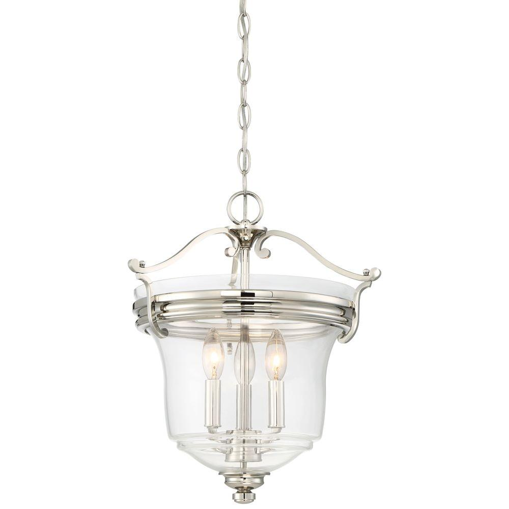 Audreys Point 3 Light Polished Nickel Pendant