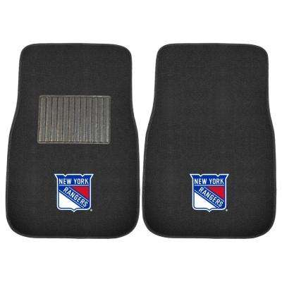 NHL New York Rangers 2-Piece 17 in. x 25.5 in. Carpet Embroidered Car Mat