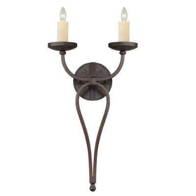 2-Light Oiled Copper Sconce