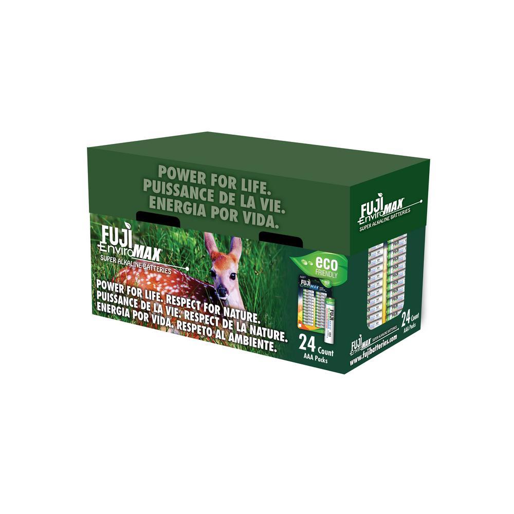 Fuji EnviroMax Super Alkaline AAA Battery (24 per Pack)