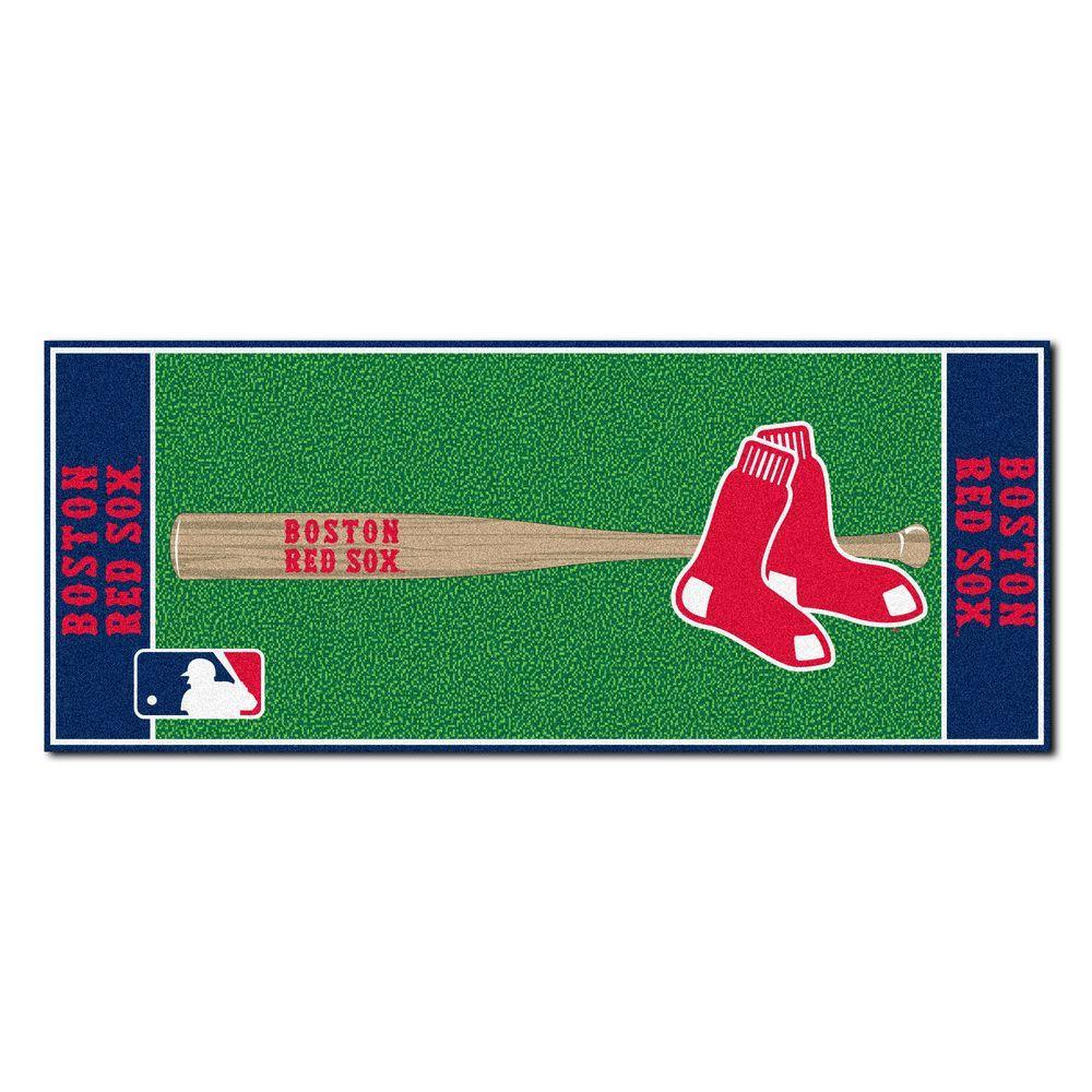 Boston Red Sox 3 ft. x 6 ft. Baseball Runner Rug