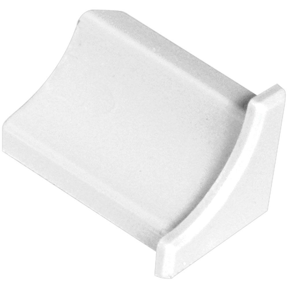 Dilex-PHK Bright White 9/16 in. x 1 in. PVC End Cap