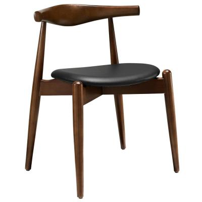 Stalwart Dark Walnut Black Dining Side Chair