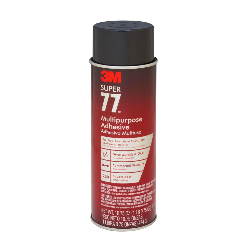 3M Super 77 16.75 fl. oz. Multi-Purpose Spray Adhesive-77-24 - The ...