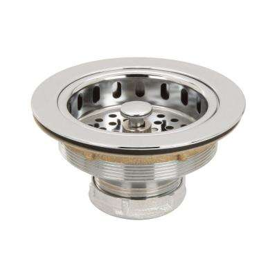 3-1/2 in. Post Basket Strainer in Polished Chrome