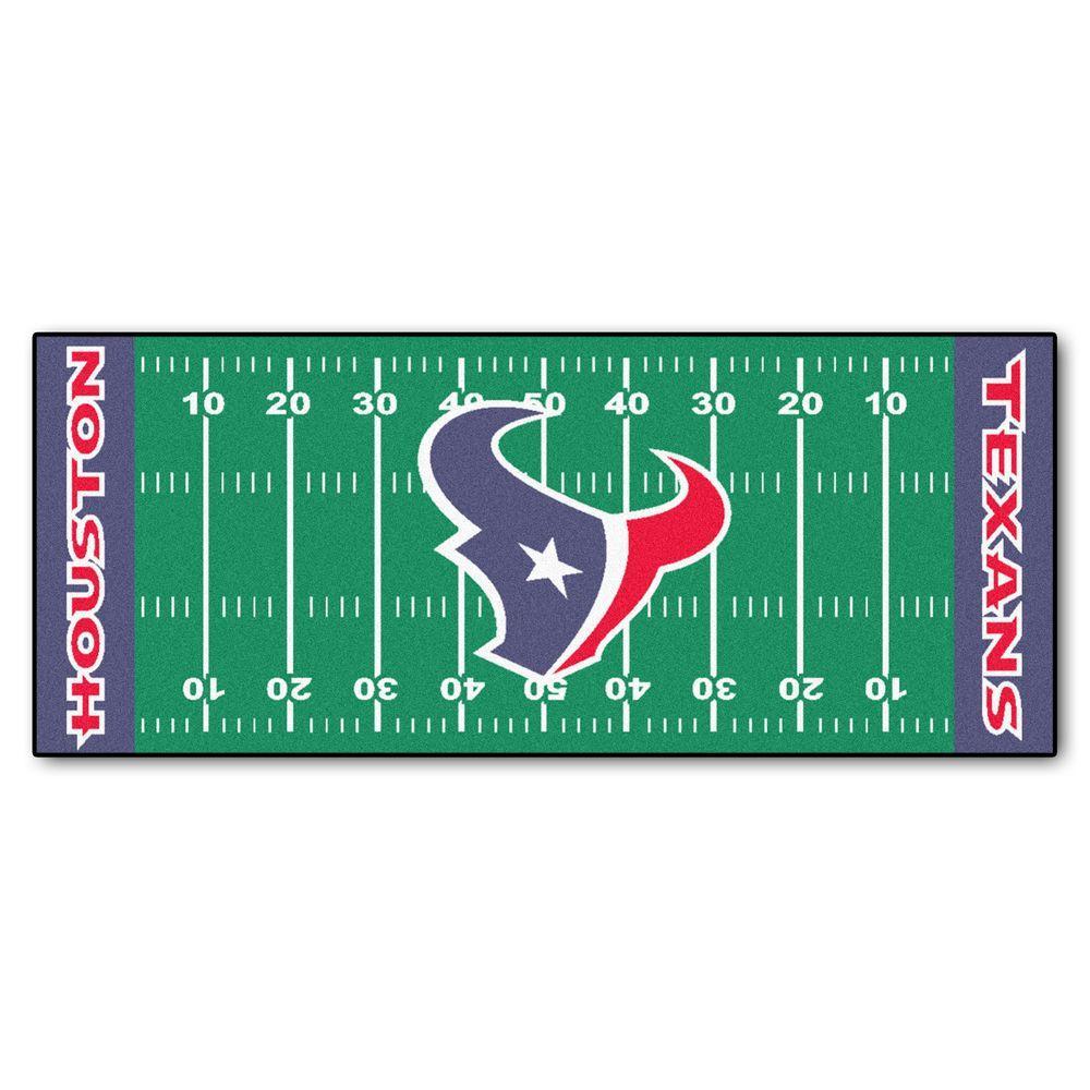 Houston Texans 3 ft. x 6 ft. Football Field Rug Runner Rug