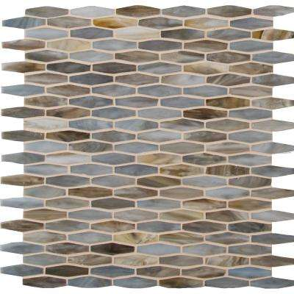 Mochachino 12 in. x 12 in. x 3mm Glass Mesh-Mounted Mosaic Tile (20 sq. ft. / case)