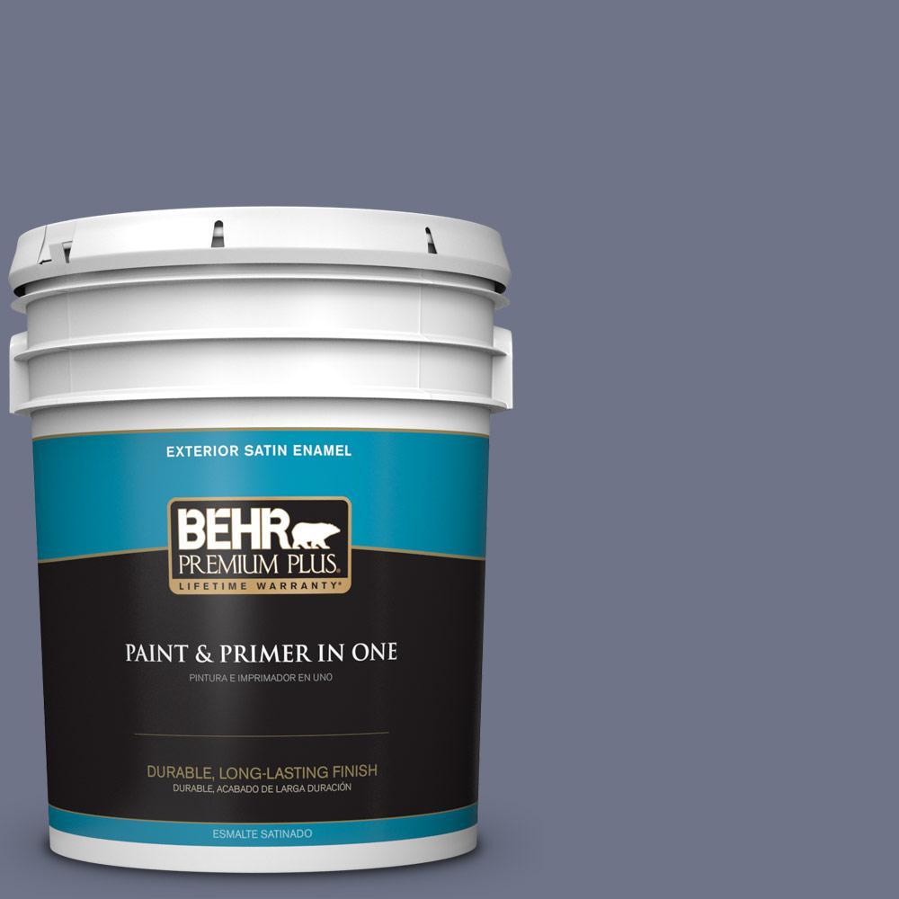 5 gal. #PPU16-17 Blue Aura Satin Enamel Exterior Paint