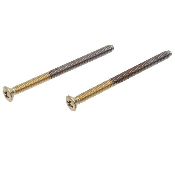 Delta Pair of Escutcheon Trim Screws in Polished Brass