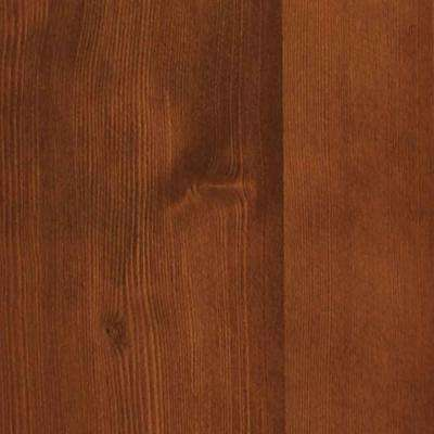 4 in. x 3 in. Wood Garage Door Sample in Hemlock with Butternut 072 Stain