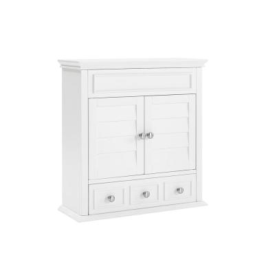 Lydia 24.25 in. W x 25.75 in. H x 9.25 in. D Surface Mount Medicine Cabinet in White