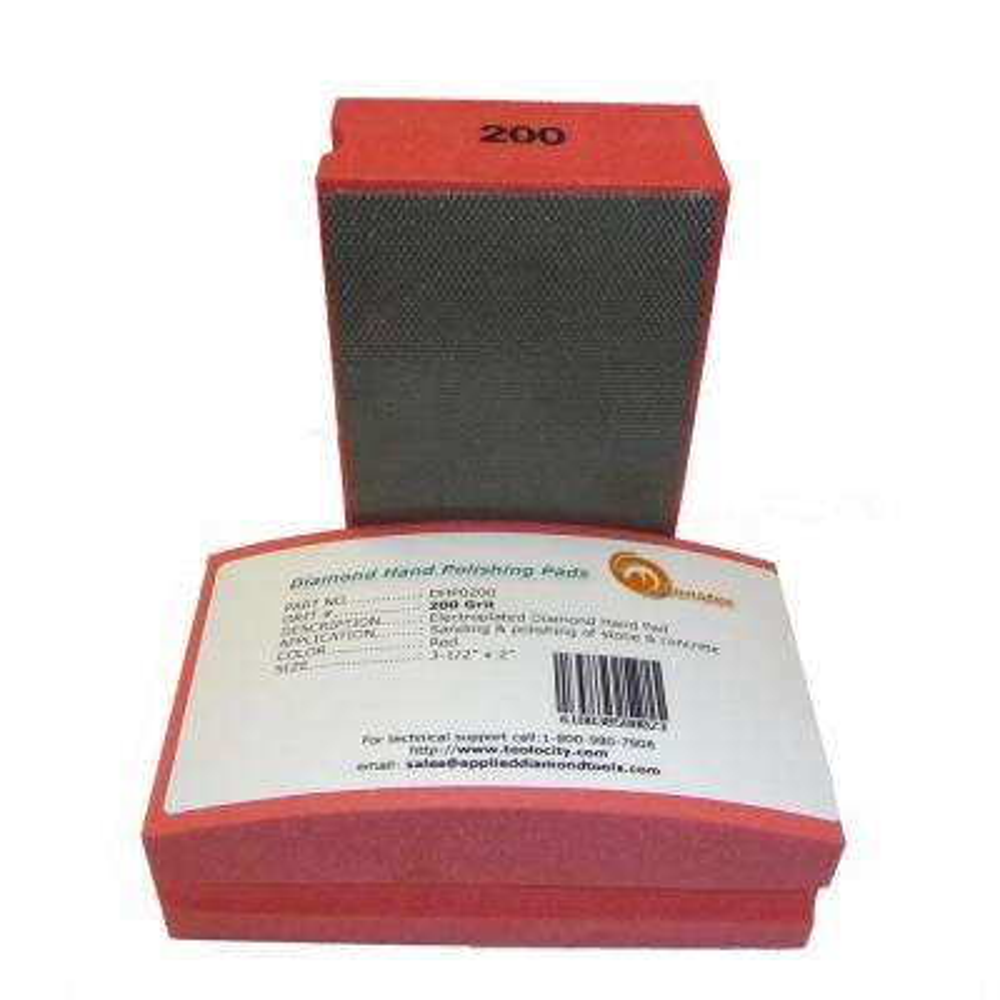 200-Grit Diamond Hand Polishing Pads Block Type
