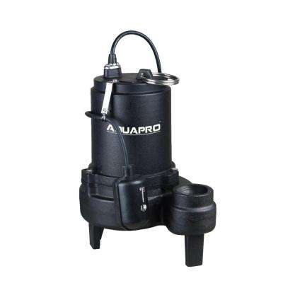 3/4 HP Sewage Pump with Piggyback Tethered Float Switch