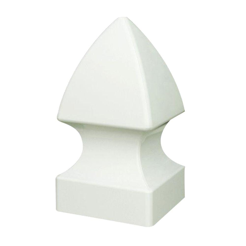 4 in. x 4 in. White Vinyl Gothic Fence Post Top