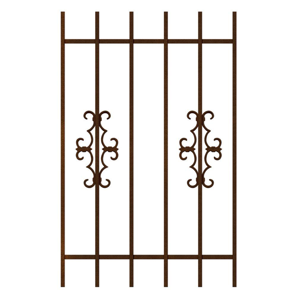 Unique Home Designs Watchman Trio 30 in. x 48 in. Copper 6-Bar Window Guard-DISCONTINUED
