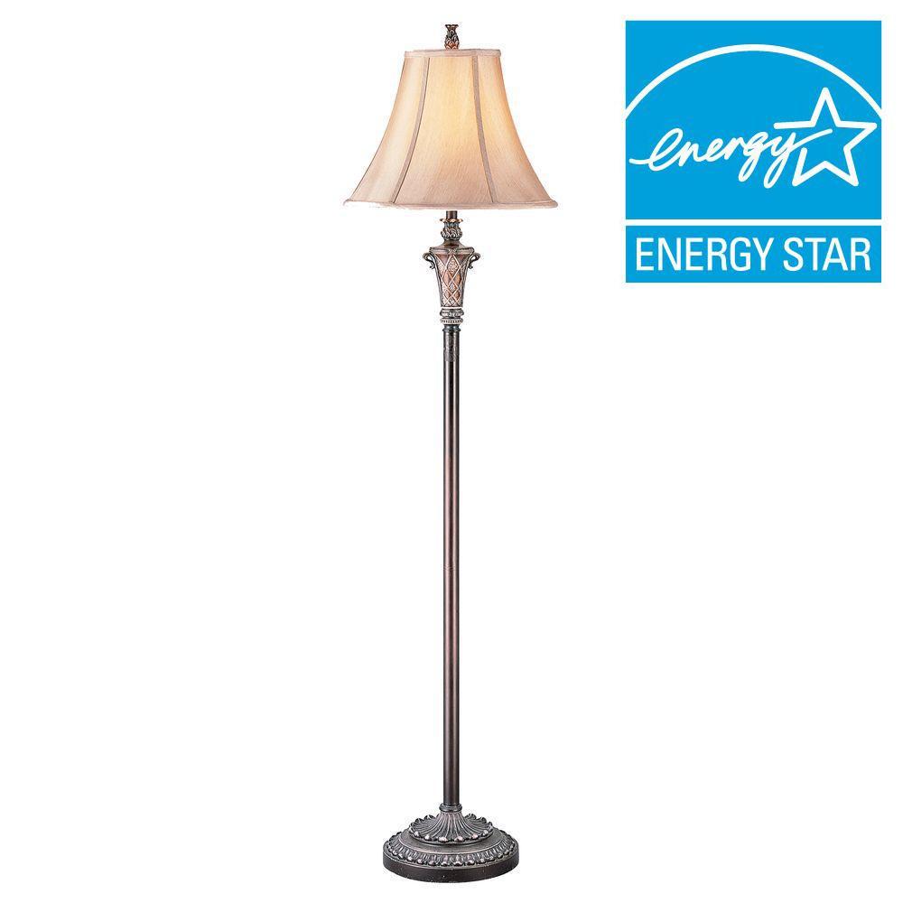 63 in. Brass Floor Lamp
