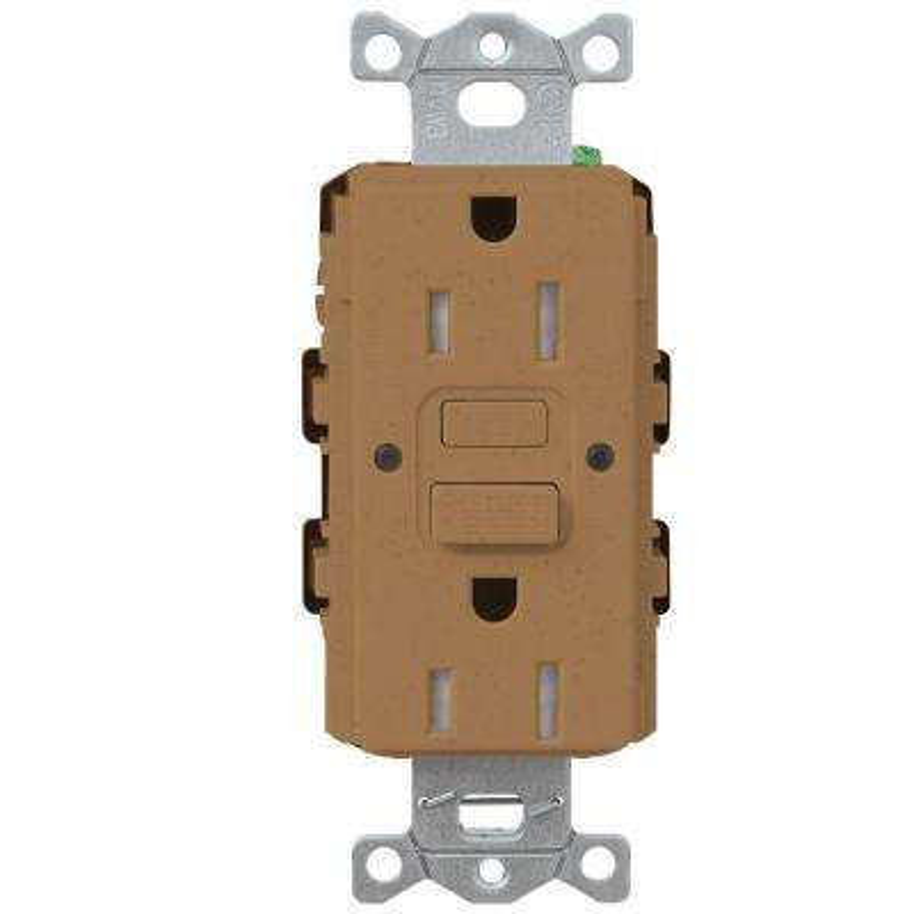 Satin Colors 15-Amp Tamper-Resistant GFCI Duplex Receptacle - Terracotta