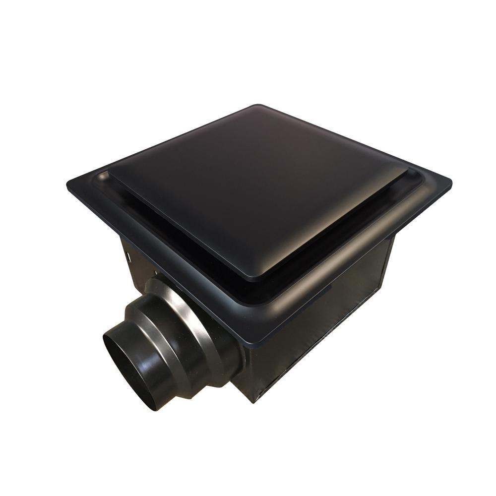 Aero Pure Low Profile 80 CFM Quiet Ceiling Bathroom Ventilation Fan 0.4 Sones Oil Rubbed Bronze