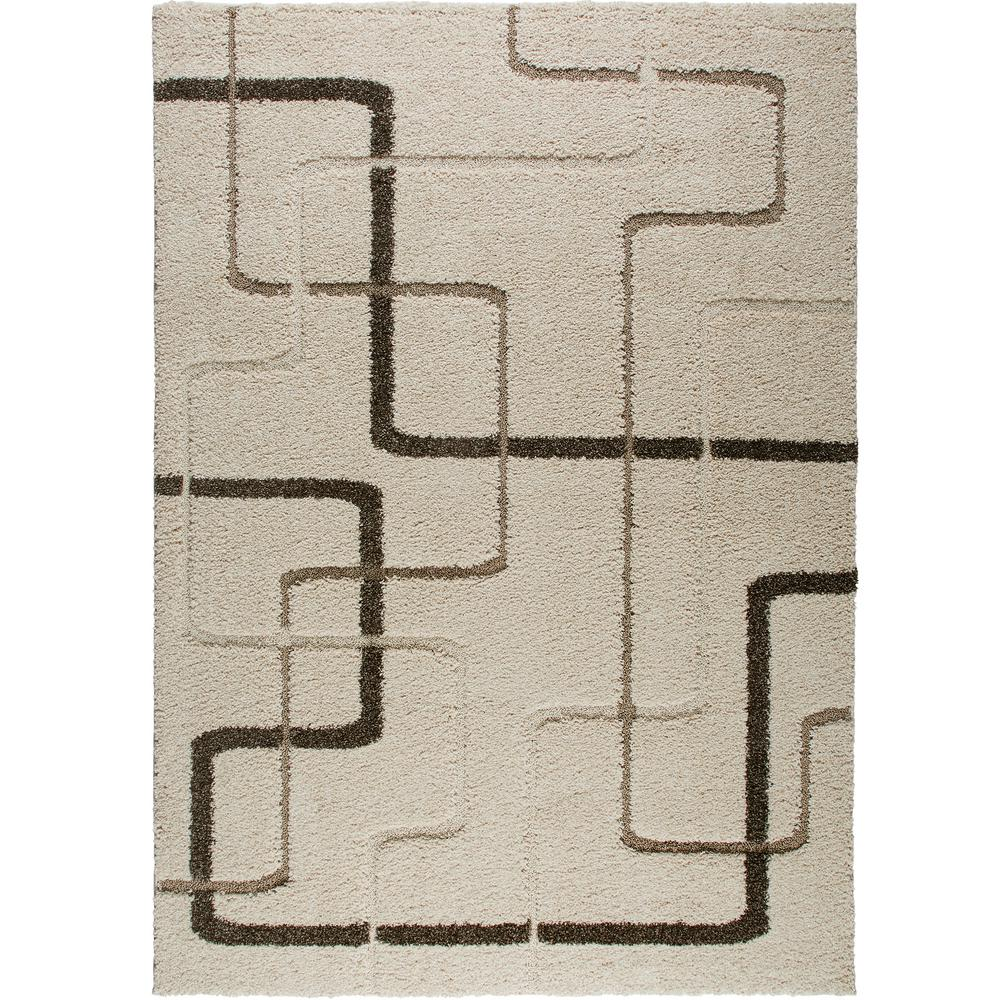 Home Dynamix Bazaar Modern Lines Ivory 8 ft. x 10 ft. Are...