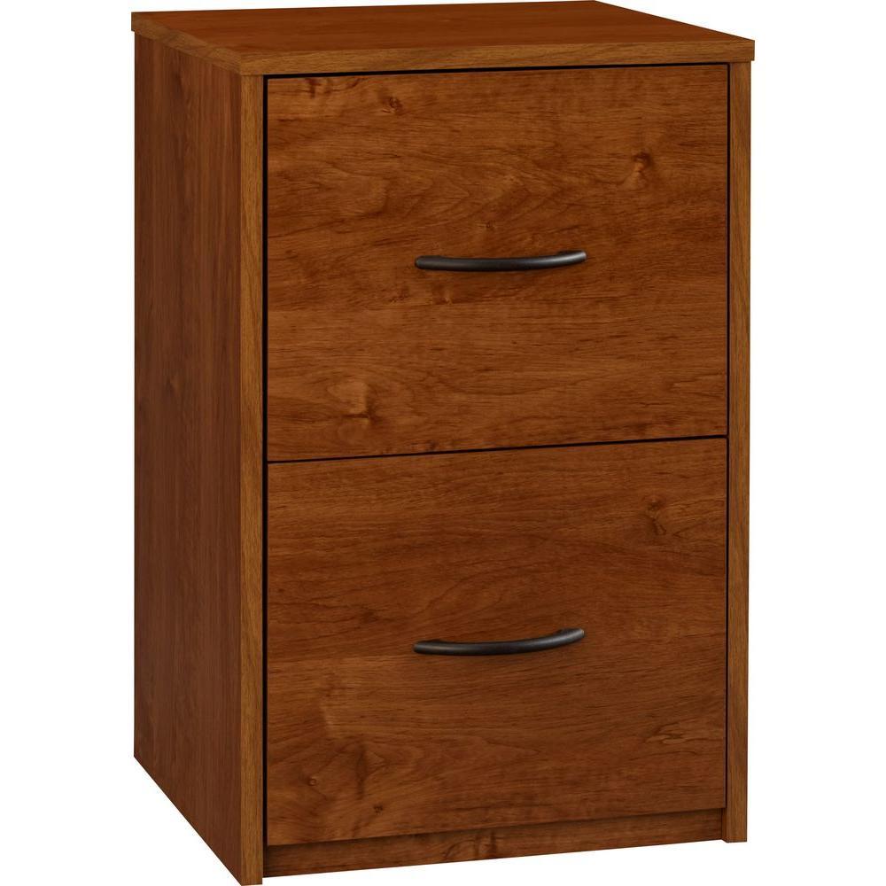 Southwood Brown Oak 2-Drawer File Cabinet