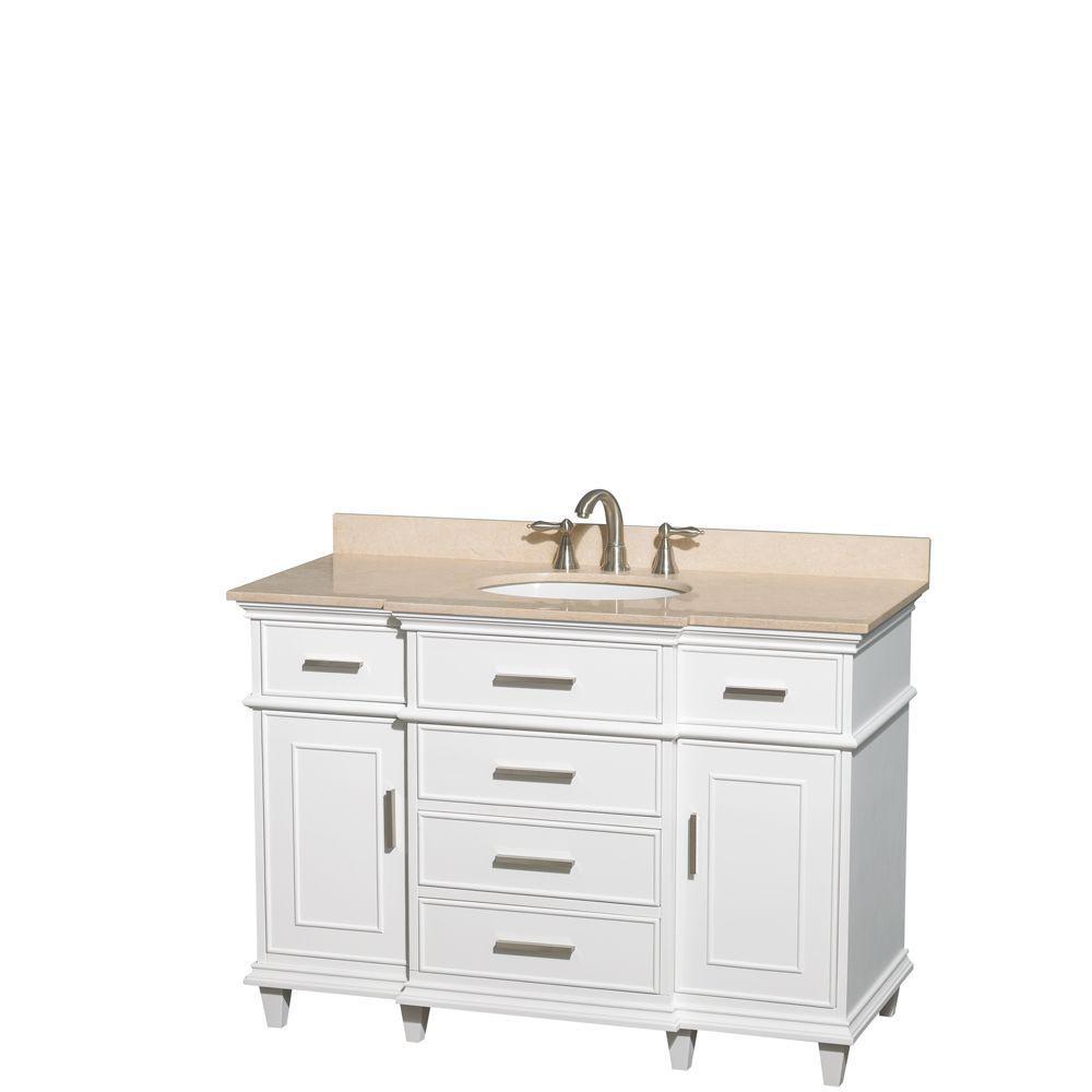 Vanity White Marble Vanity Top Ivory Oval Basin