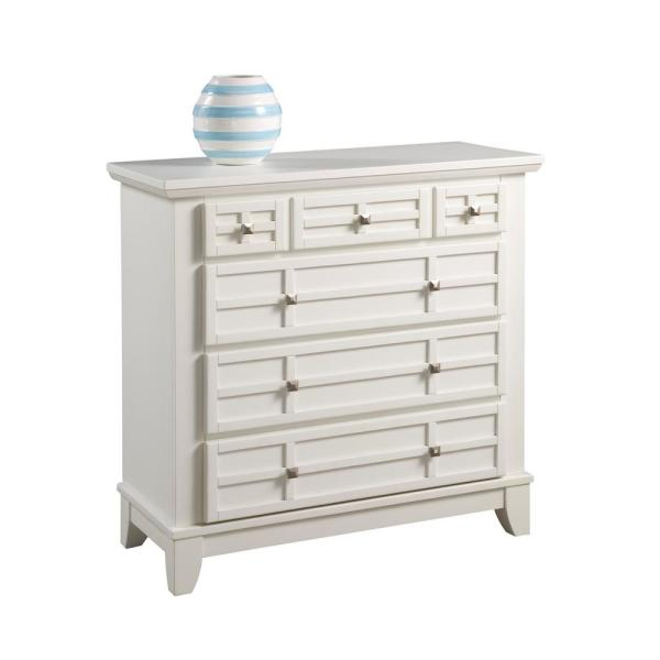 Home Styles Arts and Crafts 4-Drawer White Chest 5182-41