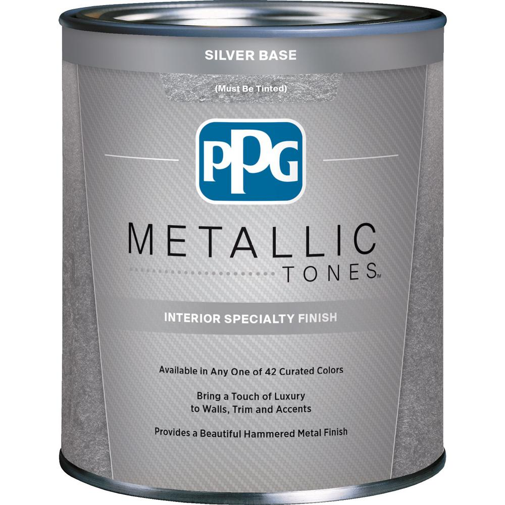 Ppg Metallic Tones 1 Qt Silver Metallic Interior