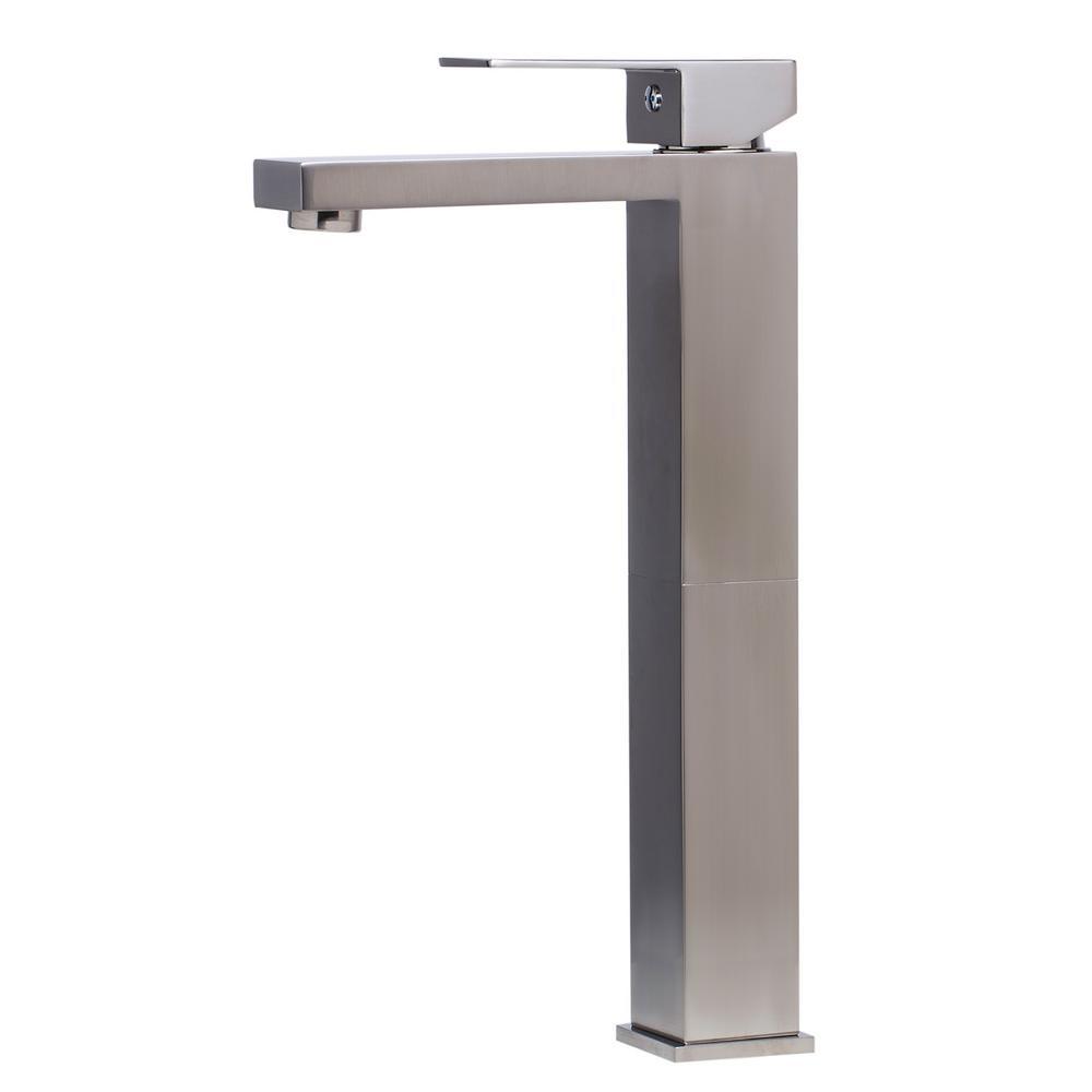 AB1129-BN Single Hole Single-Handle Bathroom Faucet in Brushed Nickel