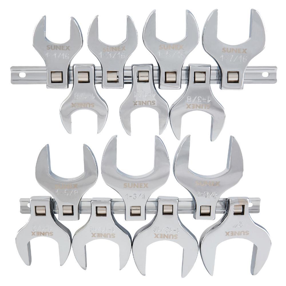 1/2 in. Drive Jumbo SAE Crowfoot Wrench Set (14-Piece)