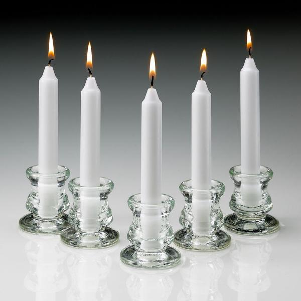 6 in. Tall 3/4 in. Thick Unscented White Taper Candles (Set of 40)