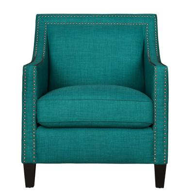 Emery Green Arm Chair and Ottoman