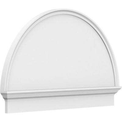 2-3/4 in. x 86 in. x 49-3/4 in. Half Round Smooth Architectural Grade PVC Combination Pediment Moulding