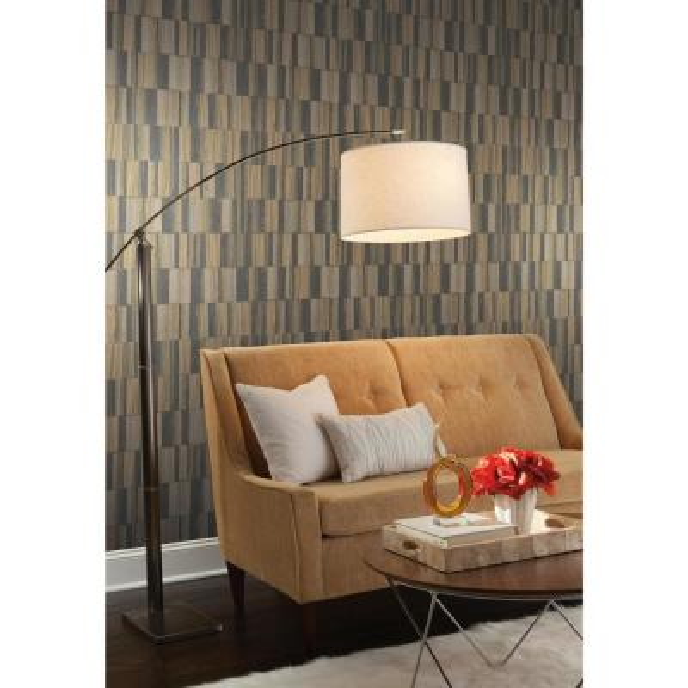 56.9 sq. ft. Gilded Wood Tile Wallpaper