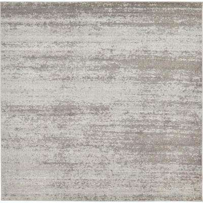 Del Mar Lucille Gray 8' 0 x 8' 0 Square Rug