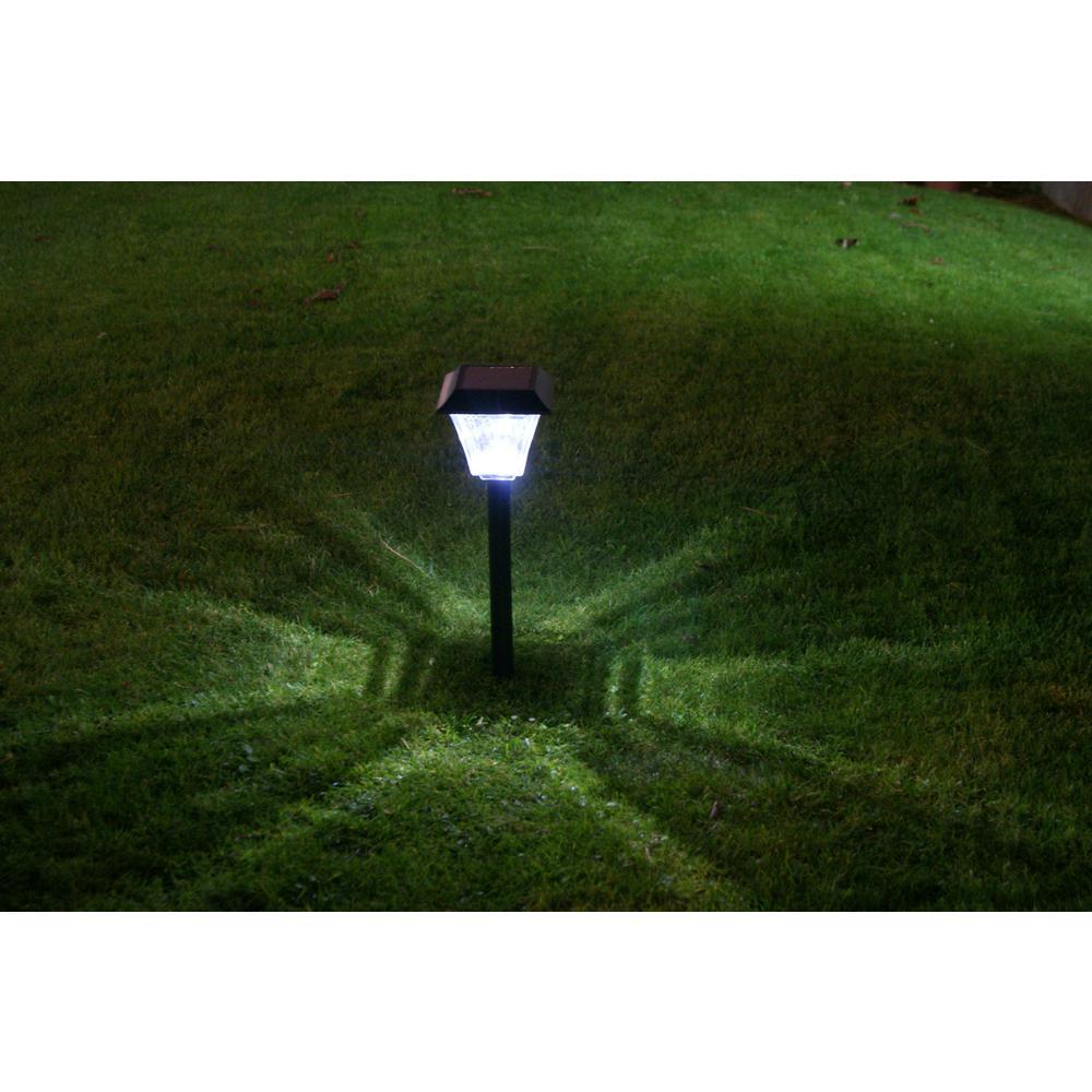 Hampton Bay Acorn 2 Light Solar Pathway Light Set 6 Pack
