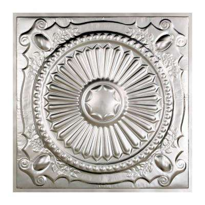 Toronto 2 ft. x 2 ft. Lay-in Tin Ceiling Tile in Clear (Case of 5)