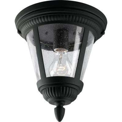 Westport Collection Black Outdoor Flushmount
