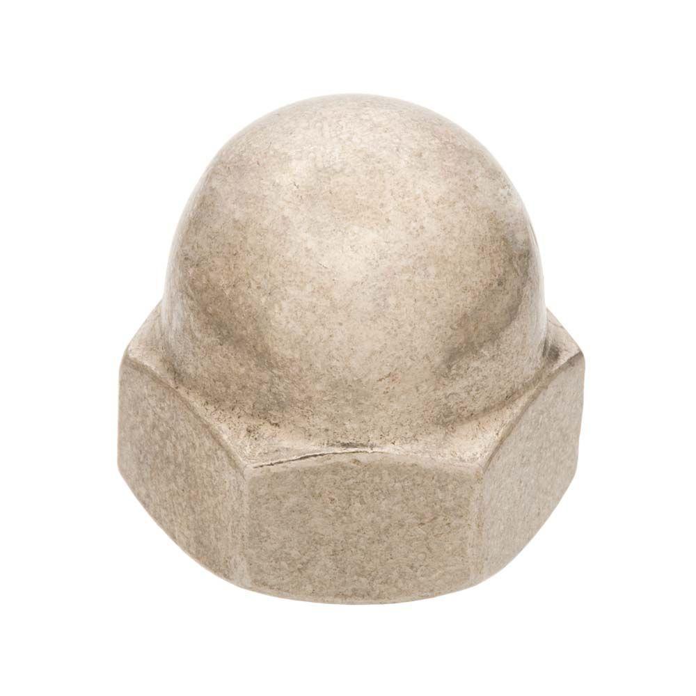 Everbilt #8-32 Zinc Plated Cap Nut (6-Pieces)