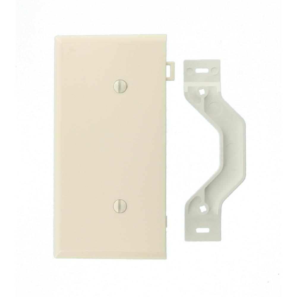 Leviton Sectional 1-Gang End Blank Nylon Wall Plate, Light