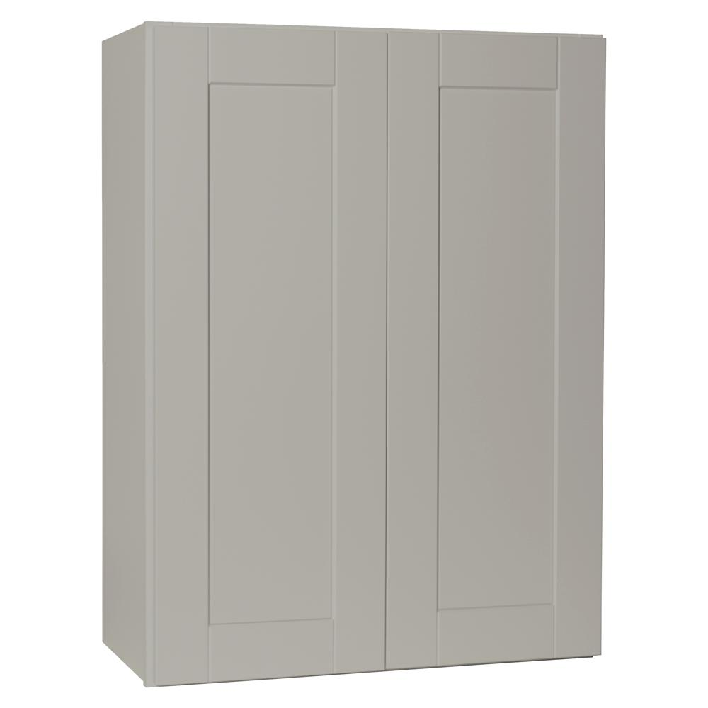 Hampton bay shaker assembled 27x36x12 in wall kitchen for Assembled kitchen units
