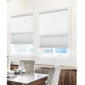 Chicology Cut To Width Gray Sheen 9 16 In Light Filtering And Privacy Cordless Cellular Shade 44 5 In W X 48 In L Csd G I 44 5 48 The Home Depot