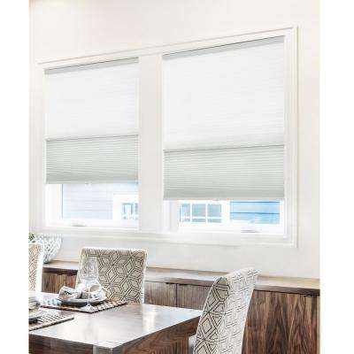 Cut-to-Width Gray Sheen 9/16 in. Light Filtering and Privacy Cordless Cellular Shade - 44.5 in. W x 72 in. L