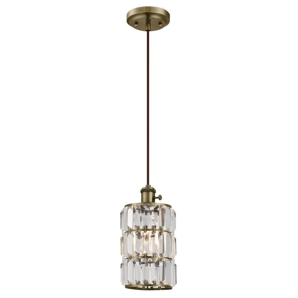 Westinghouse Sophie 1-Light Antique Brass Mini Pendant