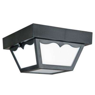 Lacovelli 1-Light Black Outdoor Flush Mount