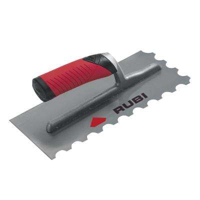 4/5 in. Steel Notched Trowel