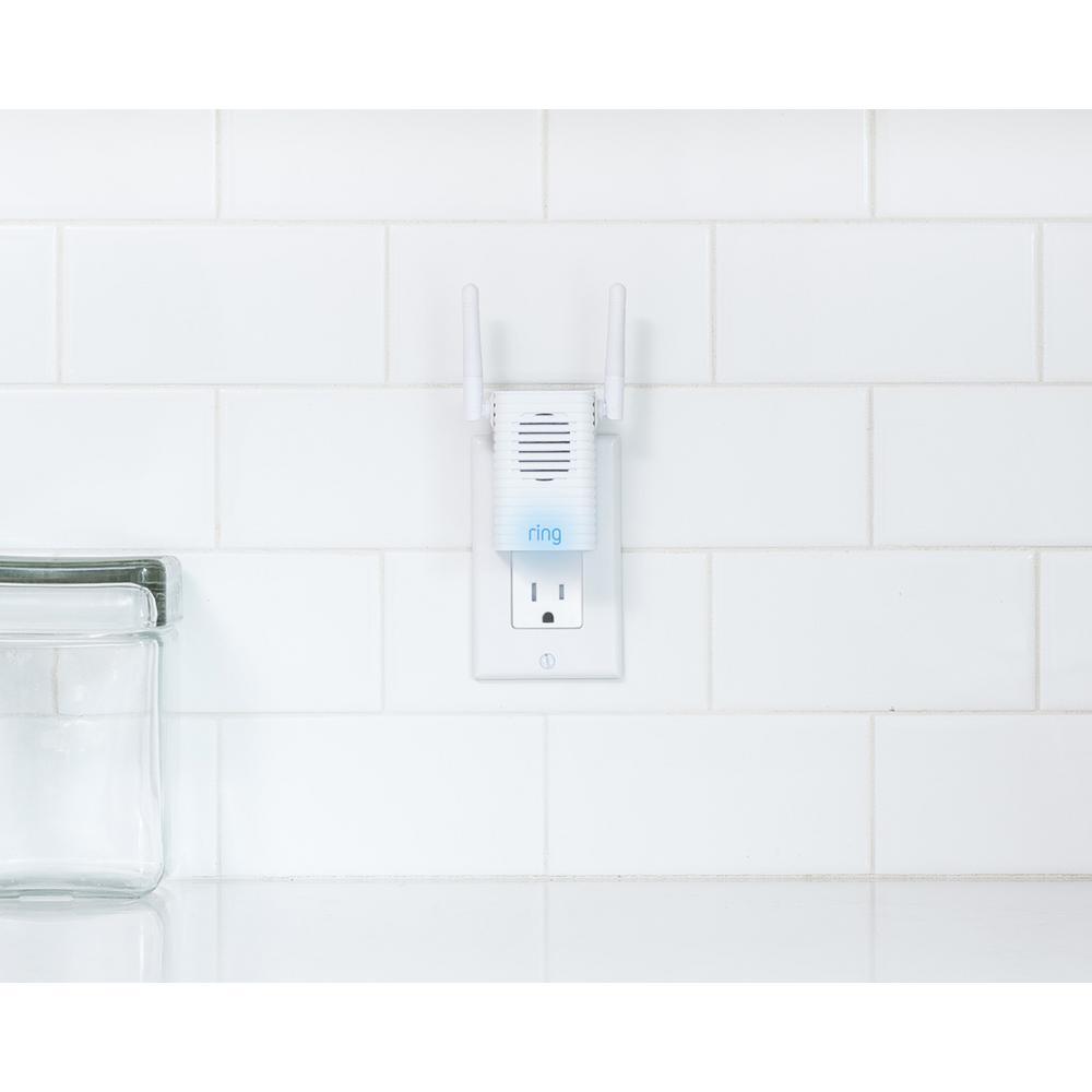 4 in Smart Chime Pro Home Wireless Door Bell Accessory w// Multiple Alert Tones
