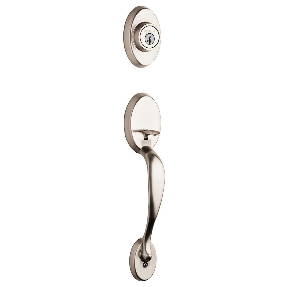 Chelsea Satin Nickel Single Cylinder Door Handleset Less Interior Pack Featuring