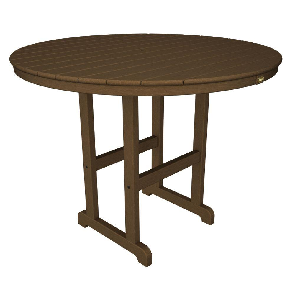 Charmant Tree House Round Patio Counter Table