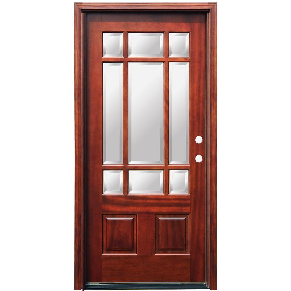 exterior wood doors with glass panels pacific entries 36 in x 80 in craftsman 9 lite stained