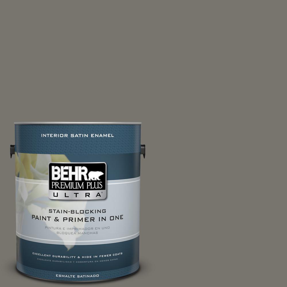 1 gal. #PPU24-06 Slippery Shale Satin Enamel Interior Paint